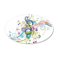 Music in the air 20x12 Oval Wall Decal  .....by The Ink Box....will make a Great Gift