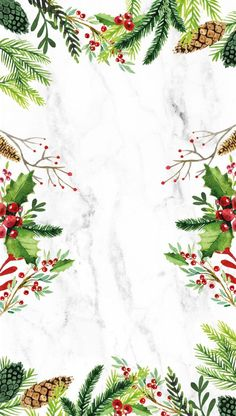 Cute holiday marbled wallpaper