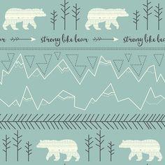 Polar Bear - Tribal Print fabric by papercanoedesign on Spoonflower - custom fabric