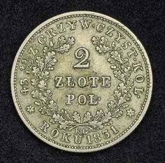 Coins of Poland 2 Zlote Silver Coin Revolutionary Coinage, November Uprising 1830–31.