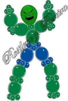 Projeto de balões O incrivel hulk