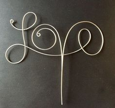 Wire Love Cake Topper by CopperMaidenJewelry on . Wire Love Cake Topper by CopperMaidenJewelry on Etsy Wire Wrapped Jewelry, Wire Jewelry, Jewelery, Love Cake Topper, Cake Toppers, Diy Wedding Cake Topper, Wedding Cakes, Wire Crafts, Jewelry Crafts