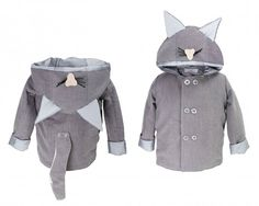 moda - kurtki i płaszcze-Płaszcz dziecięcy KOTEK