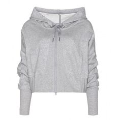 Adidas by Stella McCartney Studio Jersey Hooded Top ($75) ❤ liked on Polyvore featuring tops, hoodies, jackets, sweaters, outerwear, adidas tops, hooded sweatshirt, adidas hoodie, hooded pullover and adidas