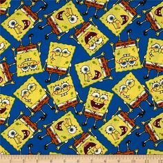 Spongebob Packed from @fabricdotcom  Licensed to Springs Creative Products, this cotton print fabric is perfect for quilting, apparel and home décor accents. Colors include yellow, red, brown, white, and blue. This cotton print is licensed and not for commercial use.