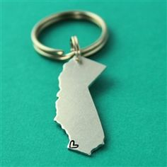 Where Your Heart Is - State Key Chain - Spiffing Jewelry