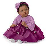 """Elly Knoops Pretty As A Princess Poseable 19"""" Baby Doll in Satin Dress by The Ashton-Drake Galleries"""