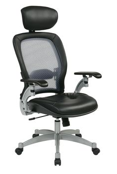 Office Star Black/Platinum Professional Light Air Grid Back Chair