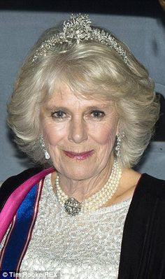 The Duchess of Cornwall Wearing her family's Cubitt-Shand Tiara to a diplomatic reception. 12/2/14