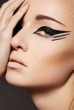 Dark Red Eyeshadow   #dark #eyeshadow #Red Eyeliner Pen, Winged Eyeliner, Eyeliner Ideas, Contour Makeup, Makeup Kit, Party Makeup, Eye Makeup, Makeup Geek, Colorful Makeup