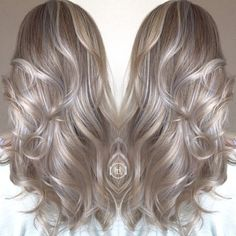 Sun kiss Hilites / ombré / silver and gold tones /blondes / hairstylist / hair by: Emilio V. @hairlegacyinc.com - Looking for Hair Extensions to refresh your hair look instantly? http://www.hairextensionsale.com/?source=autopin-thnew