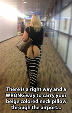 How not to carry your neck pillow…