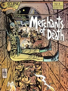"docshaner: "" Alex Toth, Merchants of Death. I'd never seen this one before this morning but I really dig it. Via Michael Sporn. Comic Book Artists, Comic Artist, Comic Books Art, Alex Toth, Fourth World, Bristol Board, Horror Comics, Animation, Comic Book Covers"