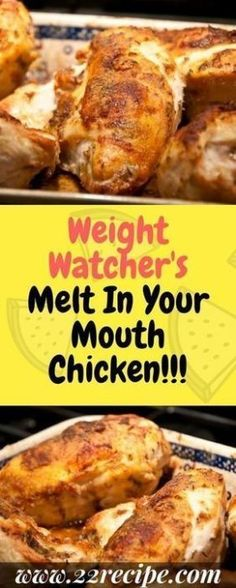 My Weight Watchers Chicken Recipes with SmartPoints. These Easy Weight watchers Chicken Recipes with Points are damn easy to cook, and we all love Chicken recipes, so why not try weight watchers chicken to lose weight fast while eating tasty! Poulet Weight Watchers, Plats Weight Watchers, Weight Watchers Chicken, Weight Watchers Meals, Ww Recipes, Chicken Recipes, Healthy Recipes, Healthy Food, Healthy Eating