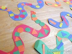 I'm always looking for easy art projects, and this fits the bill perfectly.  Plus, kids love snakes.