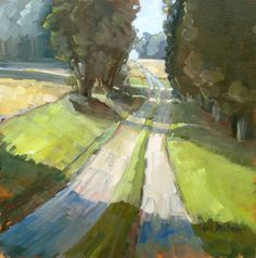"""""""Farmer's Passage"""", 18x18 oil on panel.  Painted during Plein Air Easton 2013 competition."""