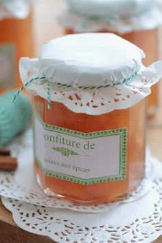 jam with spices Marmalade Jam, Wine Jelly, Compote Recipe, Pear Jam, Tortellini Recipes, Thermomix Desserts, Frozen Yoghurt, Gourmet Gifts, No Sugar Foods