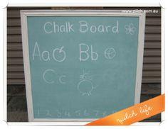 Chalk board paint recipe. Find the tutorial in Ziilch Life (au.ziilch.com)