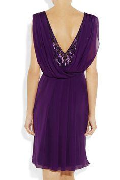 Matthew Williamson Embellished lace and draped silk-chiffon dress NET-A-PORTER.COM