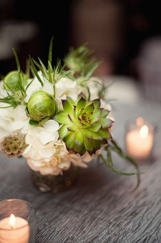 Floral Design Inspiration – 10 Succulent Bouquets and Centerpieces from Junebug's Real Weddings Library