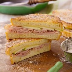 Ham & Apple Monte Cristo Sandwiches