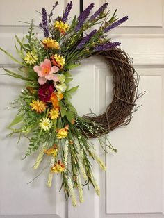 Mother's Day,Summer wreath for front door,Flower berry wreath,Everyday wreath by H2HCreation on Etsy