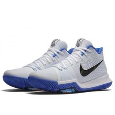 ee542946732 Nike Kyrie 3 Mens Basketball Shoes 14 White Black Hyper Cobalt  Nike   BasketballShoes Basketball