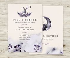 Enchanted Winter Woodland Invitations - No Ordinary Emporium Wedding Stationery, Wedding Invitations, Book Wrap, Warehouse Wedding, Table Plans, Save The Date Cards, Enchanted, Woodland, Place Cards