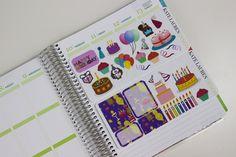 Bright Birthday Planner Stickers for Erin Condren Life Planner Happy Planner Filofax kikki.K Plum Paper Planner Stickers