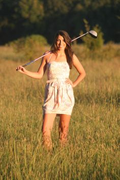I hit it in the rough and can't even find my ball, let alone something like this: Birdie Bailey, golf journalist.