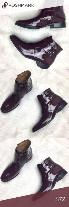 FRANCO SARTO Riddick Bootie Trendy Franco Sarto ankle boot. So comfortable and can be styled up or down. Size 9. Brand new without box. Color is a dark maroon. Franco Sarto Shoes Ankle Boots & Booties