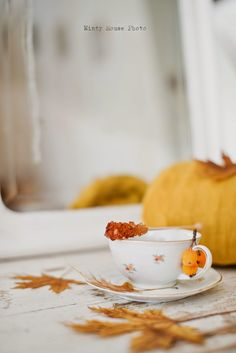 Minty House, Autumn time, tea time, cup, Fall