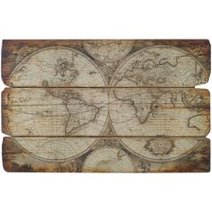 Add an antique-inspired touch to your living room or foyer with this charming wall decor, showcasing an Old World map design.    Product:...