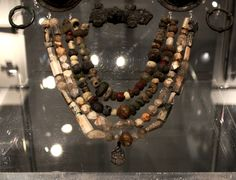Beads of a wealthy and powerful woman, Viking Age Öland, Sweden at the historical museum in Stockholm
