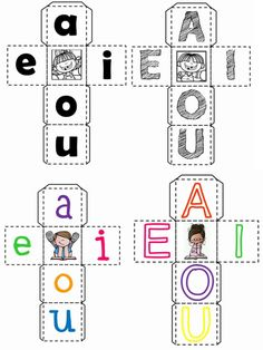 Lindos dados creativos para trabajar las vocales con nuestros alumnos | Material Educativo