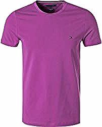 Tommy Hilfiger Herren T Shirt Slim Fit Bio Baumwolle Violett Lila Tommy Hilfigertommy Hilfiger In 2020 With Images White Shirts Women Mens Tops Shirts