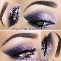 15 Valentines Day-eye make-up ideas . 15 Valentines Day-eye make-up ideas Day Eye Makeup, Purple Eye Makeup, Purple Eyeshadow, Makeup For Green Eyes, Eyeshadow Makeup, Eyeshadows, Makeup Geek, Makeup Kit, Maybelline Eyeshadow