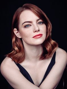 Emma Stone photographed for The Hollywood Reporter.