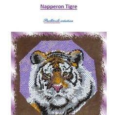 Patron tissage danois - napperon tigre