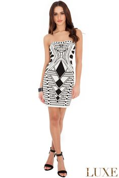 1ce88a7681b9 Strapless Print Bodycon Dress : UK Ladies Wholesale Fashion Clothing