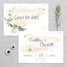 Wedding Stationery, Wedding Invitations, Save The Date Templates, Peach Blush, Watercolor Design, Printing Services, Thank You Cards, Colorful Backgrounds