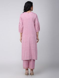 Buy Pink Khadi Cotton Kurta Online at Jaypore.com
