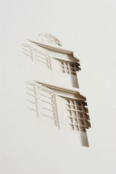 Your House by Olafur Eliasson - The Negative Space of a House Cut Inside a 908 Page Book sculpture paper home book architecture