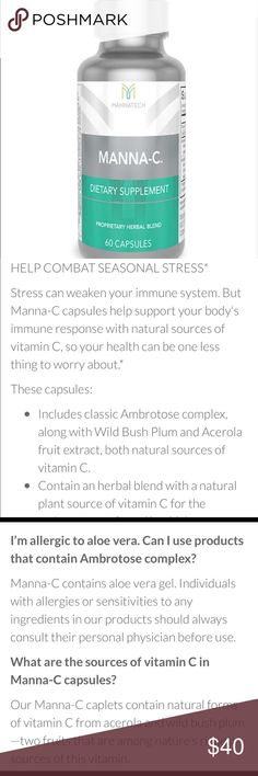 Manna-C vitamin: help you boost your immune system Brand new! Never opened! Join my Mannatech team to make extra cash! mannatech Other