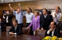 Presidents enjoying Champions League (football) during G8