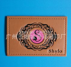 custom made jeans leather label leather patch manufacturers