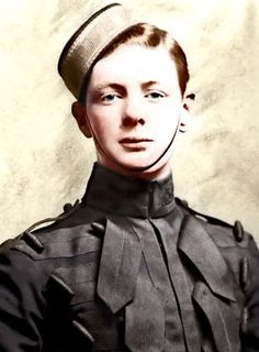 """WINSTON CHURCHILL. 4TH QUEEN'S OWN HUSSARS. """"A GLORIOUSLY FLAWED INDIVIDUAL."""""""