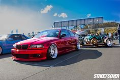 Candy Red BMW via Street Cover