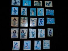 Awesome De Grazia Signed Magnet Collection 21 different Designs 23 Piece LOT