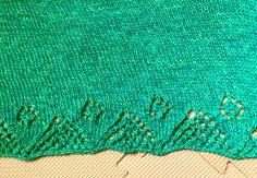 Cute border in a sea of stockinette. Shleeves by Mary Annarella . . #knitsbymay #maydtknits #ravelry #knit #knitted #knitter #knitting #knitwear #handknit #knittersofinstagram #shleeves #shawl #maryannarella #lyricalknits
